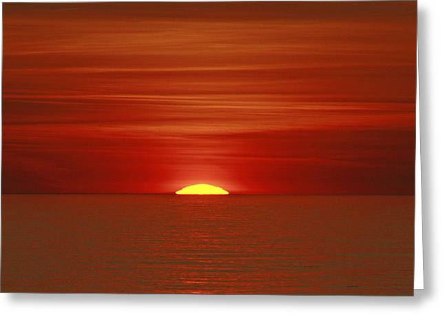 Red Sky At Night Greeting Card by Michael Allen
