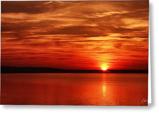 Red Sky At Night Greeting Card by Phill Doherty