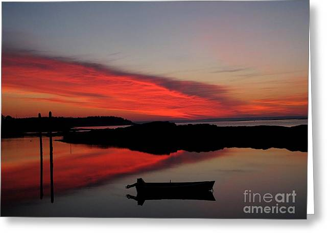 Red Sky In Morning Greeting Card by Donnie Freeman