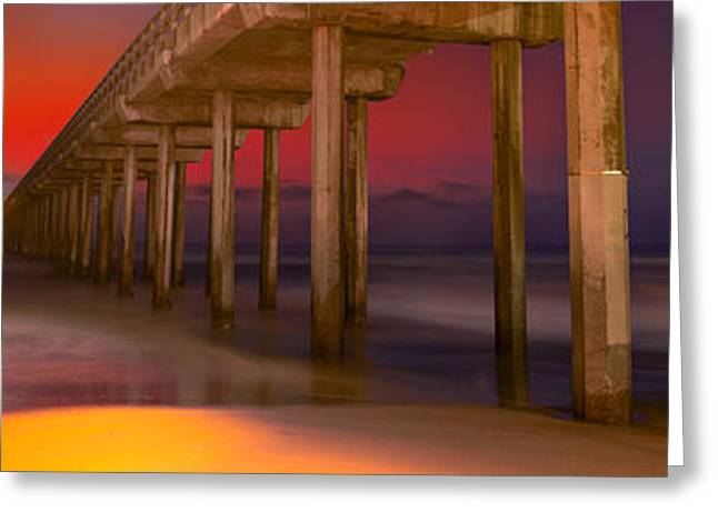 Red Sky Scripps Greeting Card