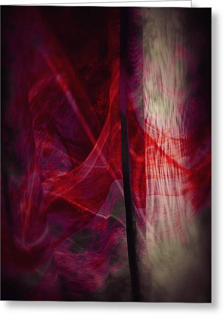 Red Smoke Greeting Card by Dennis James