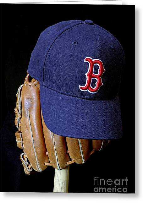 Red Sox Nation Greeting Card by John Van Decker