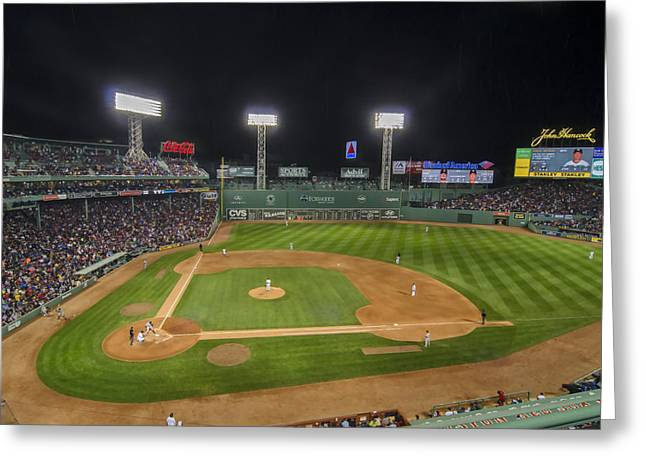 Red Sox Vs Yankees Fenway Park Greeting Card