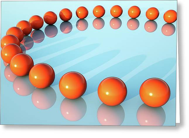 Red Spheres Greeting Card by Wladimir Bulgar