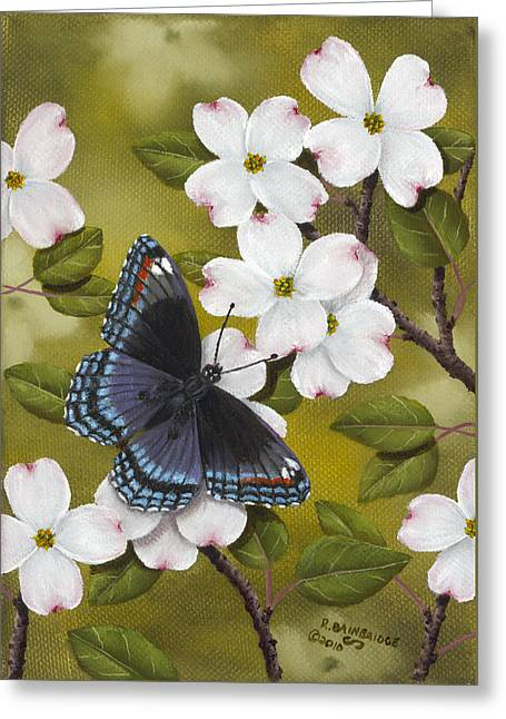 Red Spotted Purple Greeting Card by Rick Bainbridge