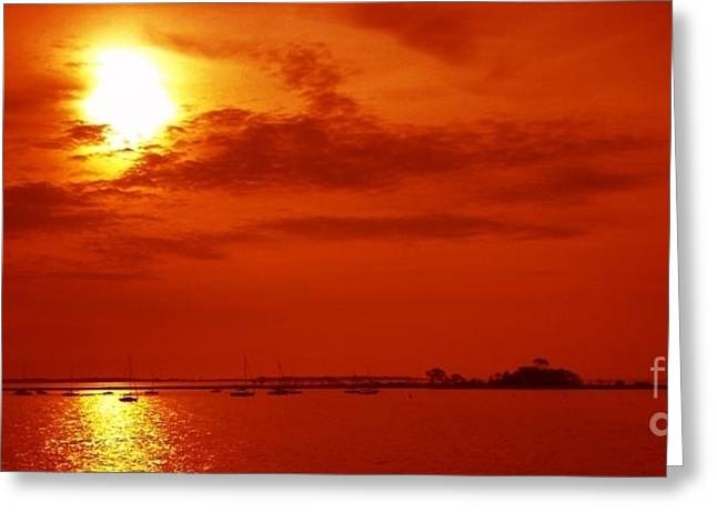 Red Star Above The Sea Greeting Card by Jay Martin