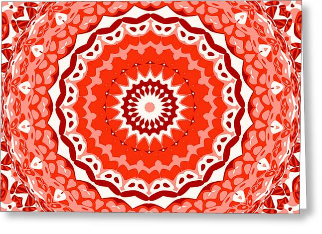 Red Star Greeting Card by Ron Brown