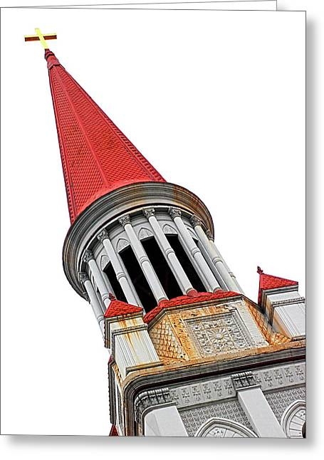 Red Steeple Church Greeting Card