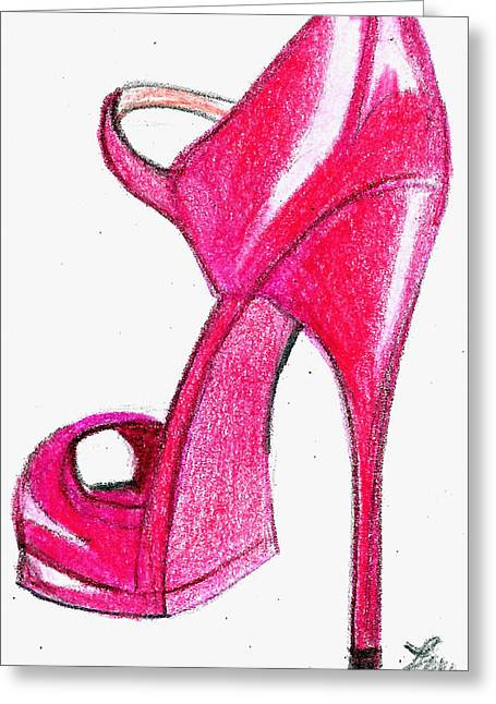 Red Stiletto Greeting Card