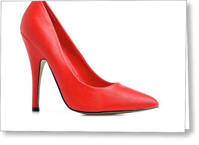 Red Stiletto Shoe Greeting Card