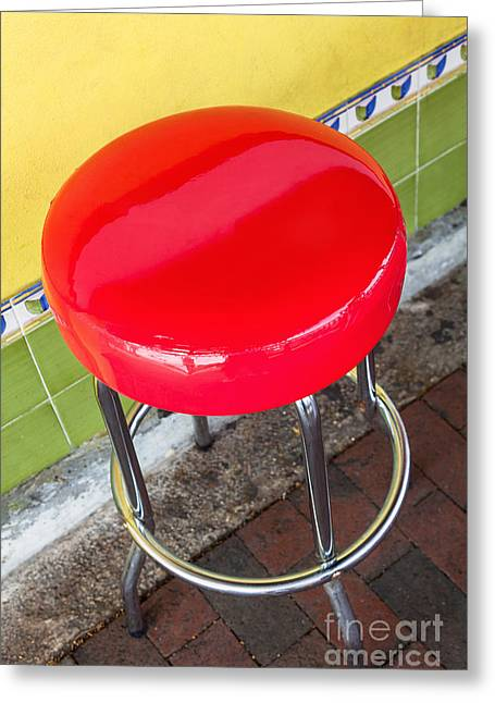 Red Stool Greeting Card