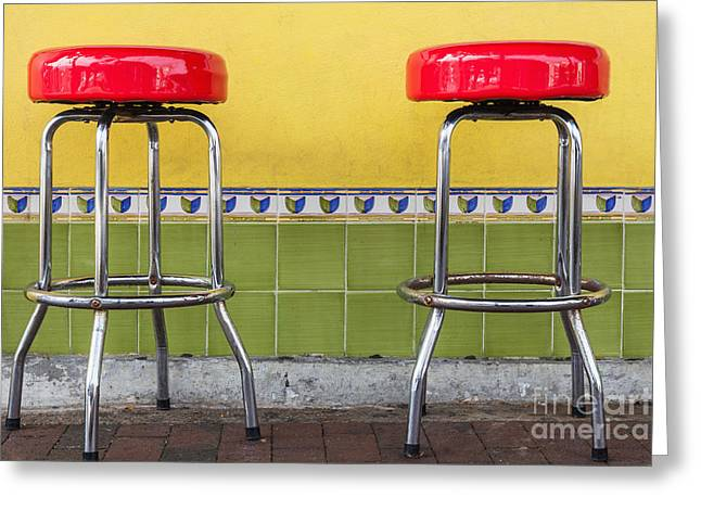 Red Stools Greeting Card