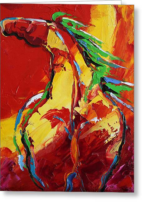 Red Sun Horse 20  2014 Greeting Card