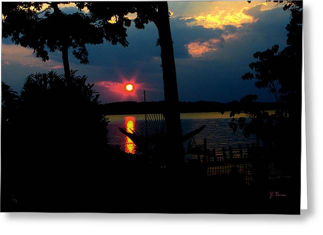 Greeting Card featuring the photograph Red Sun by James C Thomas