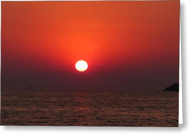 Playa La Ropa Sunset Greeting Card