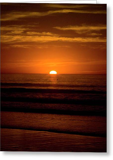 Red Sunset Greeting Card by Terry Thomas