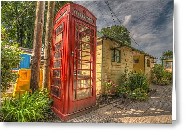 Red Telephone Box Greeting Card
