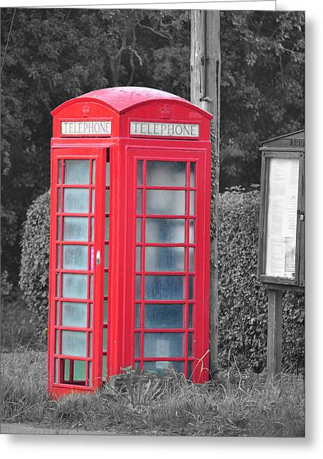 Red Telephone Box Greeting Card by David King