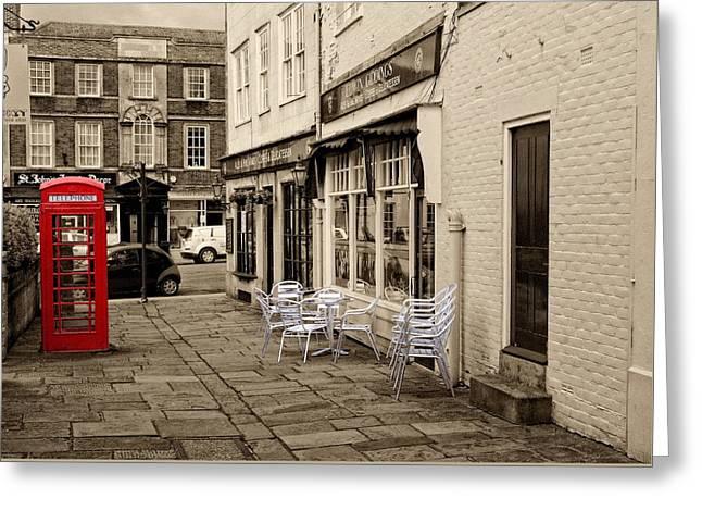 Red Telephone Box Greeting Card