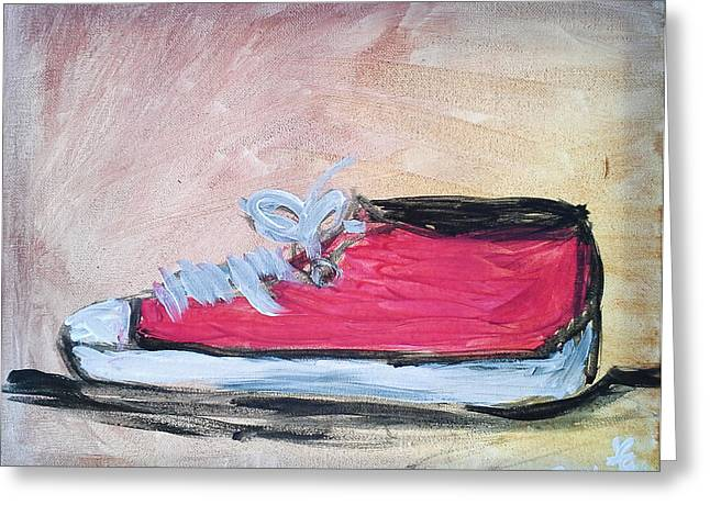 Red Tennis Shoe Greeting Card