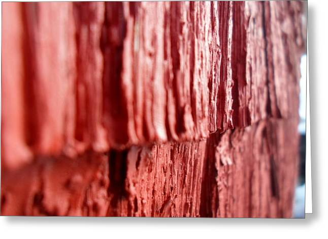 Red Texture Greeting Card by Jenna Mengersen