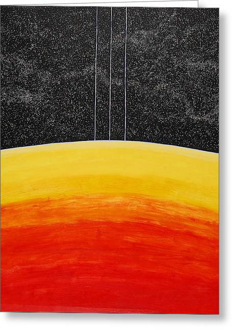 Red To Yellow Spacescape Greeting Card