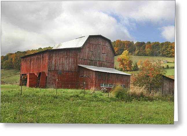 Greeting Card featuring the photograph Red Tobacco Drying Barn by Robert Camp