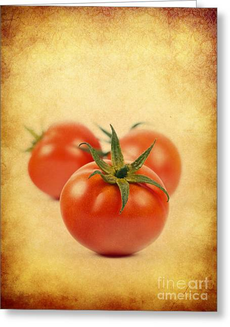 Greeting Card featuring the photograph Red Tomato by Mohamed Elkhamisy