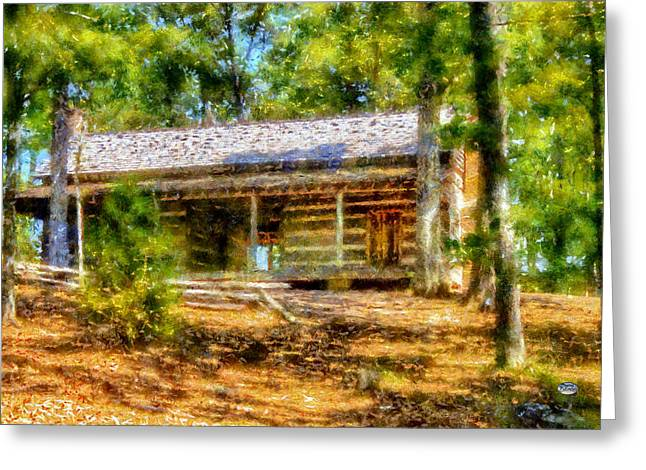 Red Top Cabin Greeting Card