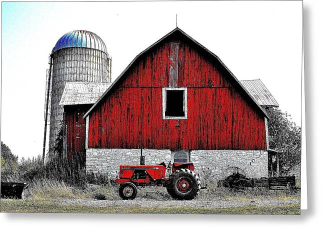 Red Tractor - Canada Greeting Card