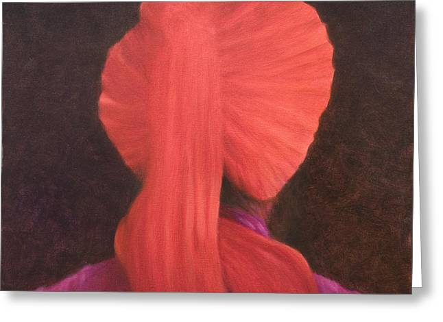 Red Turban In Shadow Greeting Card