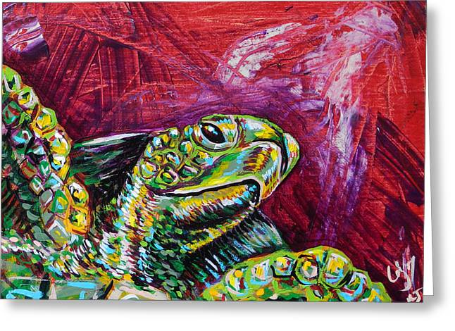 Red Turtle Greeting Card by Lovejoy Creations