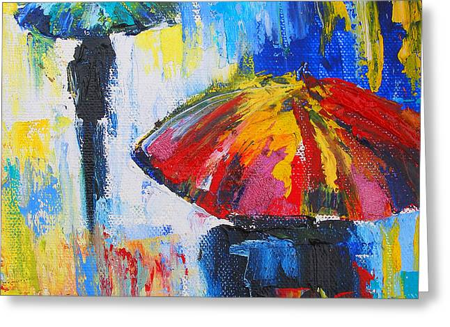 Red Umbrella Greeting Card by Susi Franco