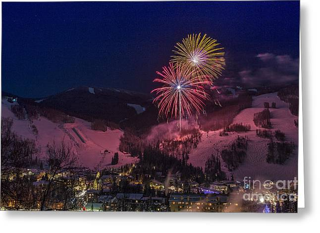 Red Vail Greeting Card