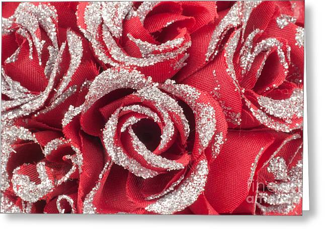 Greeting Card featuring the photograph Red Valentines Day Roses by Gunter Nezhoda