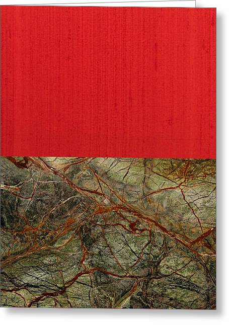 Red Veins Greeting Card by Margaret Ivory