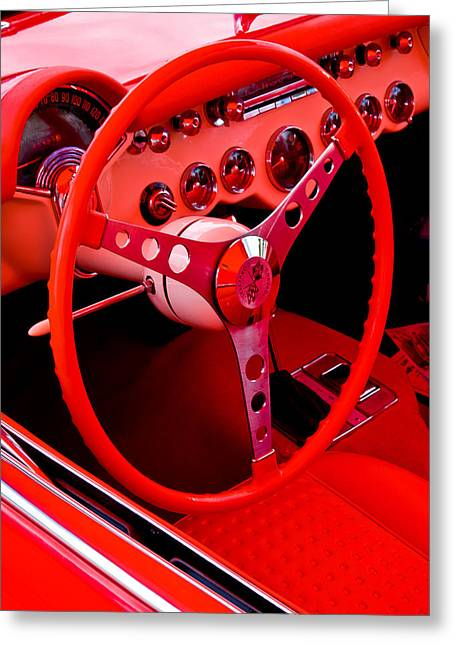 Red Vette Greeting Card by Phil 'motography' Clark