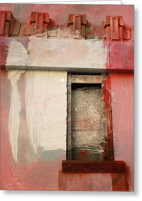 Greeting Card featuring the painting Red Wall by John Fish