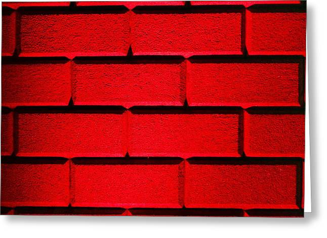 Red Wall Greeting Card by Semmick Photo