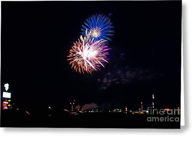 Red White And Blue Greeting Card by Joe Scott