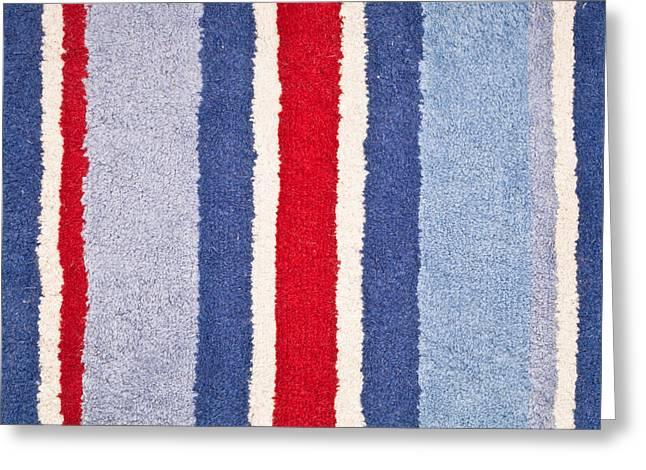 Red White And Blue Greeting Card by Tom Gowanlock