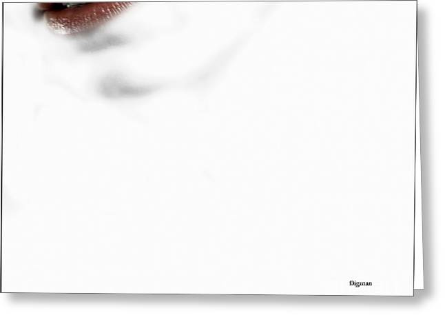 Red White And Sensuous Greeting Card by Steven Digman