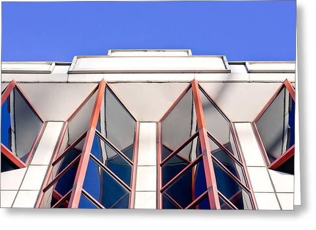 Red Windows Greeting Card by Tom Gowanlock
