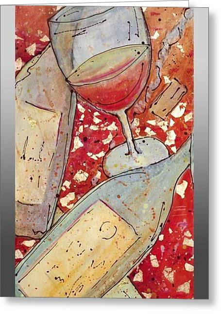 Greeting Card featuring the painting Red Wine I by Cynthia Parsons