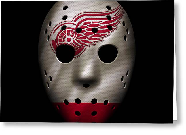 Red Wings Jersey Mask Greeting Card by Joe Hamilton
