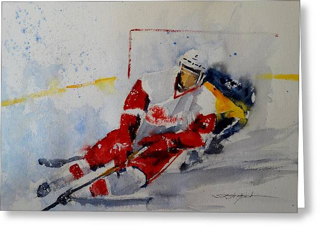 Red Wings Greeting Card by Sandra Strohschein