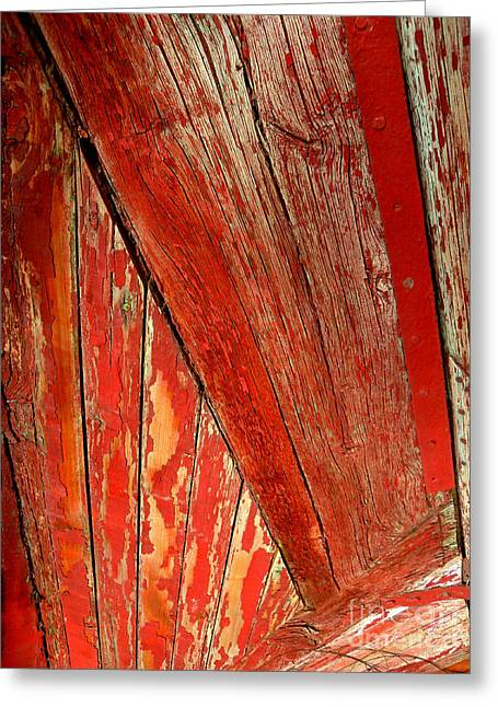 Greeting Card featuring the photograph Red Wood by Robert Riordan