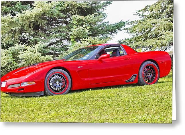 Red Z06 C5 Corvette Greeting Card