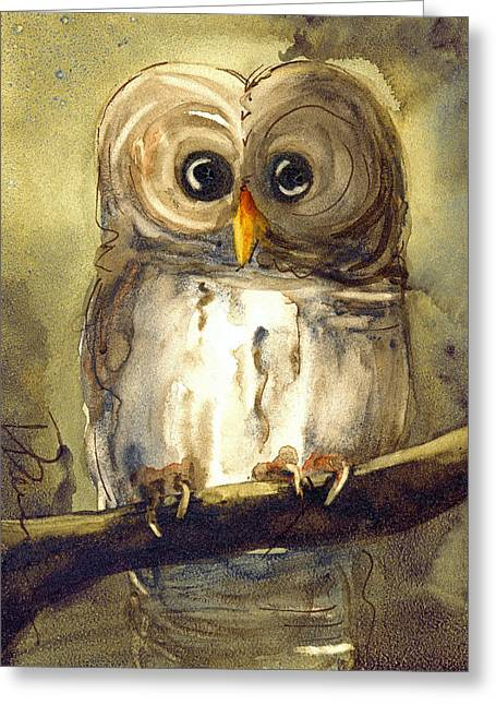 Redbird Cottage Owl Greeting Card