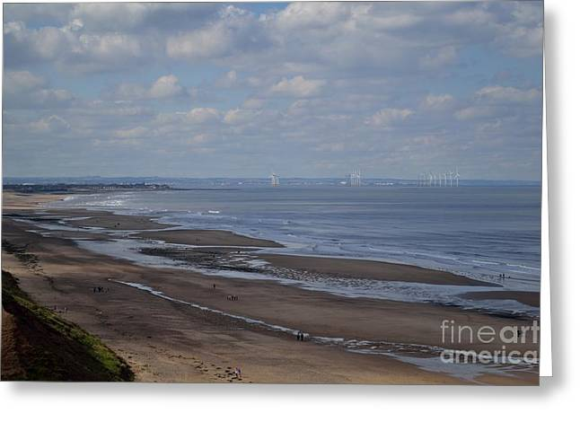 Redcar From A Distance Greeting Card